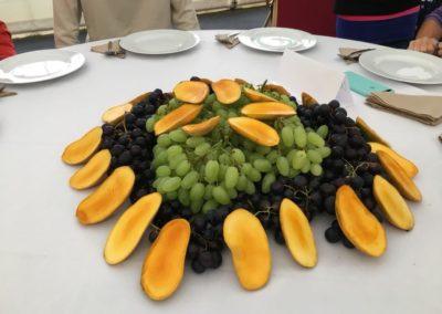 Druiven mango tafels